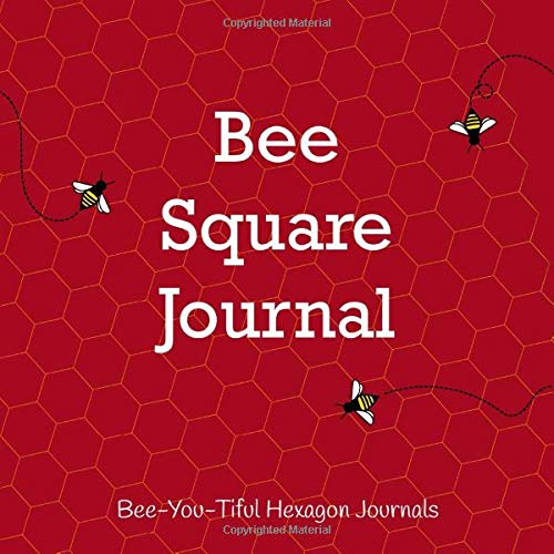 Bee Square Journal: Small and Large Hexagon Grid Graph Paper Drawing Book with Honey Bees and Red Cover (Hexagon Grid Sketchbooks, Band 4) -