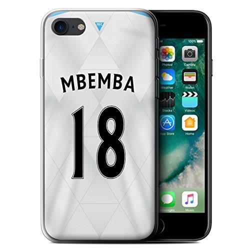 Officiel Newcastle United FC Coque / Etui Gel TPU pour Apple iPhone 7 / Mitrovic Design / NUFC Maillot Extérieur 15/16 Collection Mbemba
