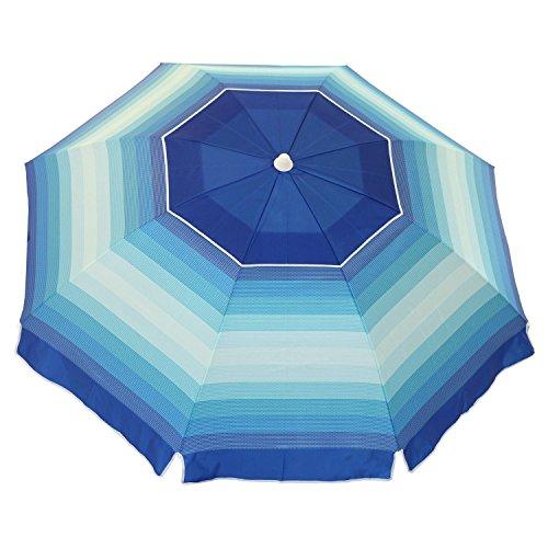 Nautica 7 Foot Tilting Beach Umbrella (Various Colors) (Blue Stripe)