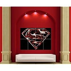 SUPERMAN. paneles de alta calidad está impresa en papel satinado grueso de calidad de 250 g.