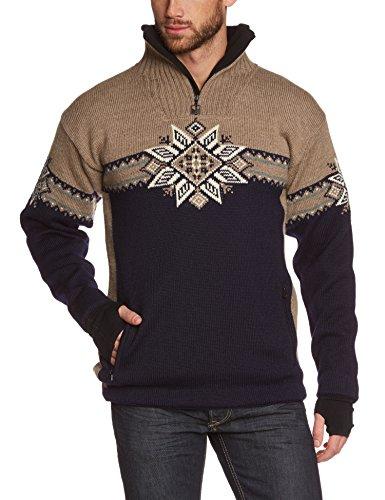 Dale of Norway Herren Pullover Lyngen Masculine Sweater WP Navy/Mountainstone/Cream/Smoke