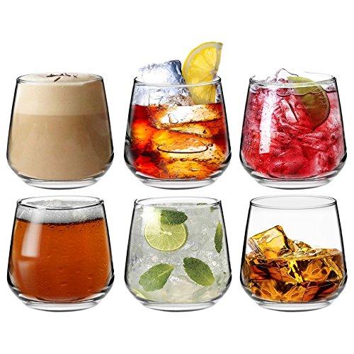 Tallo - Verres Tumbler pour eau/whisky/jus - coffret cadeau de 6 verres - 345 ml