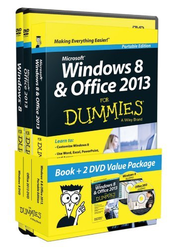 By Andy Rathbone - Windows 8 and Office 2013 for Dummies, Book + 2 DVD Bundle (Pap/DVD)