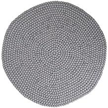 Aspru: redonda: 70cm a 300cm, gris claro bolas redondas Alfombras Fieltro Técnica (envío gratuito) (180cm / 5' 11'')