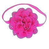 Qinlee Elastische Stirnband Spitze Blumen Form Haar Accessoires für Kinder Baby Ein Foto machen Stützen Haarband Haar Accessoires 8 Stück Farbe zufällig