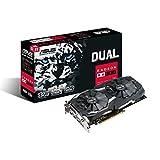 Asus Dual-RX580-8G Grafikkarte (AMD Radeon RX580, PCIe, 8GB GDDR5 Speicher, DVI, HDMI, DisplayPort)
