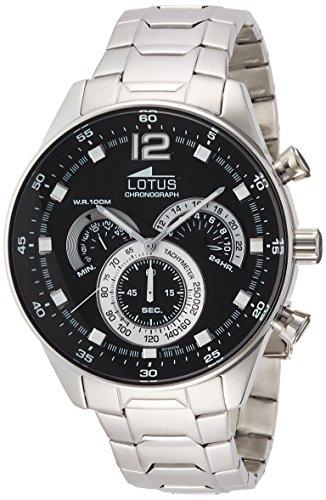 Lotus 10120/4 - Reloj de pulsera Hombre, Acero inoxidable, color Plata