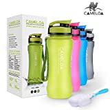 Cameloa, BPA-freie Trinkflasche, ergonomisches Design für die beste Griffigkeit, perfekt zum Laufen, Radfahren, Fitnessstudio, Yoga, Outdoor und Camping, Others, Frosted Green 600ml, 600ml-21oz