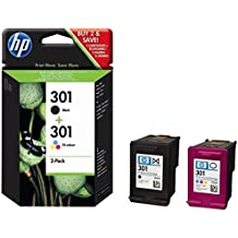 HP 301 Black and Tri-color Original Ink Cartridges (Pack of 2)
