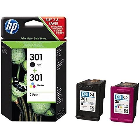 HP 301 - Pack de 2 cartuchos de Tinta. Color y Negro