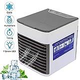 Climatiseurs portables Refroidisseur D'air USB Climatiseur 3 EN 1 Réglable Air Climatiseur Mini Air Refroidisseur Humidificateur Purificateur pour Maison/Bureau/Camping