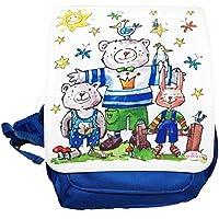 Kindergartenrucksack mit Namen, Bären, Rosirosinchen, personalisierter Kinderrucksack