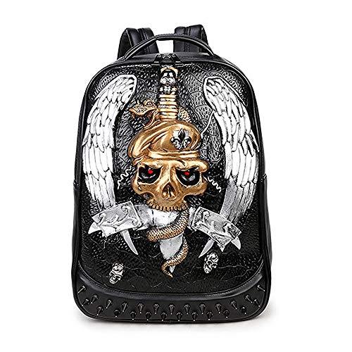 GZRY Lederrückpack, Junge Leute Knapsack, Modische Reisetasche, Es Kann Gebrauchtes Geburtstagsgeschenk Sein, Passend Für Jeden (Silber)