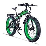 HUAERLE-Mountain-Bike-Elettrica-Bici-elettrica-1000W-Bici-Montagna-Ebike-21-velocit-26-Full-Suspension-48V12AH-Pedali-Assist