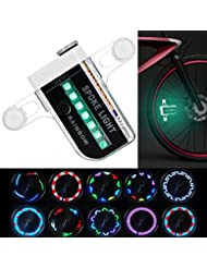 Bicyclette roue LED Lights MAXIN étanche 14 LED colorées Spoke Light pour Halloween Night, Outdoor équitation avec 30 changements de modèle différents.