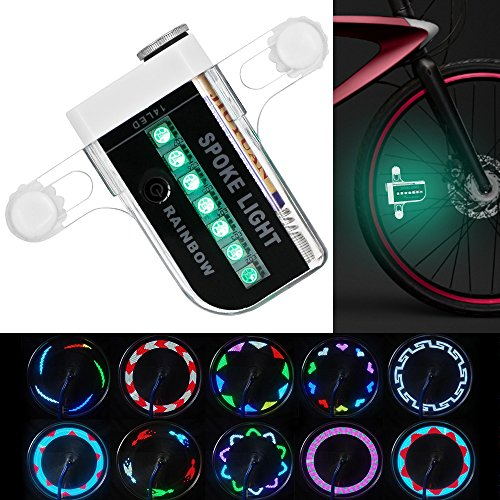 LED ruota di bicicletta Luci MAXIN impermeabile 14 LED colorati razze per la notte di Halloween, esterna che guida con 30 diversi cambi di pattern.