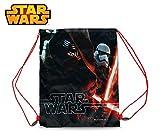 Lucasfilm Ltd. SWE7044 Zaino a sacco 32 x 40 cm con chiusura a strozzo STAR WARS monocomparto. MWS