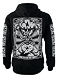 Baphomet Genuine Darkside Nu Goth Occult Fleece Zip Up Sweater Hoodie