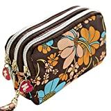 Sanwood® Women Wallet Purse Triple Zipper Clutch Phone Bag (Type 2)