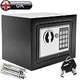 Digitaler Elektronischer Safe-Box 4.6l, Schwarz, Stahl-Bar-mit 2schlüsseln, Wand-montiert für Home Office Geld für die Aufbewahrung für Schmuck