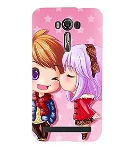 Printvisa Premium Back Cover Animated Girl And Boy In Love Design For Asus Zenfone 2 Laser ZE500KL::Asus Zenfone 2 Laser ZE500KL (5 Inches)