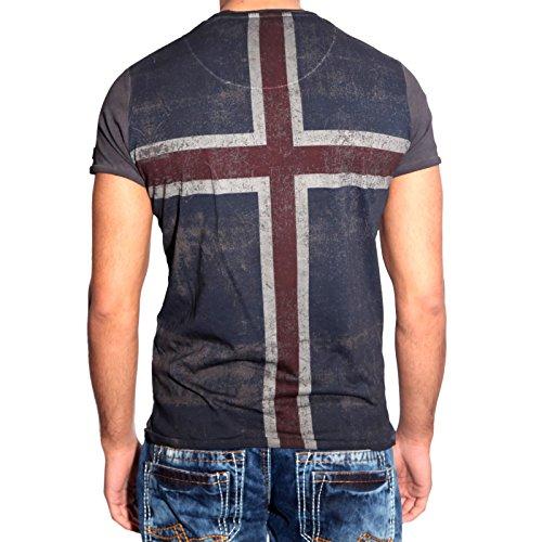 T-Shirt Poloshirt Shirt für Herren Männer Jungs Jungen A16641RN Anthrazit