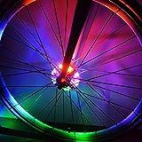 Luces LED Cyborg para rueda de bicicleta, coloridas luces LED personalizadas para las ruedas-perfecto para seguridad y diversión-fácil de instalar-Grandes ideas de regalo para niños, hombres y mujeres.Divertida luz de seguridad y advertencia para radios y llantas de bicicleta.Coloridos accesorios para neumáticos de bicicleta, faro delantero o luz trasera.