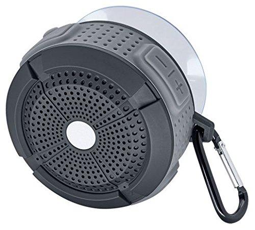 Mac Audio BT Wild 201 | Wasserfester Bluetooth-Lautsprecher für Duschkabinen und Saunen | für iOS und Android | 4 Stunden Akkulaufzeit - black/grey