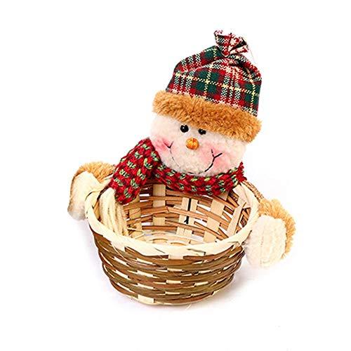 ihnachten Candy Aufbewahrungskorb Cute Sankt Halloween Weihnachten Süßigkeiten Korb Süßigkeiten Lagerung Korb Dekoration ()