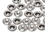 Swarovski Gegenstücke für Chaton-Nieten Elements   Edelstahl, 6mm (für dickere Materialien), 50 Stück