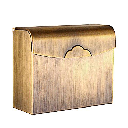 CNBBGJ Pan cuadrado antiguo cobre Europeo y papel higiénico tejido caja resistente al agua