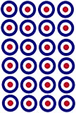 24 Birthday Cake Toppers 4cm On Icing - RAF War Airplane Plane targets