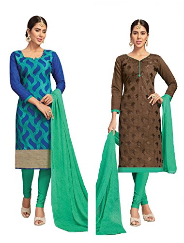 Banarasi Suit & Chanderi Suit | Double Top Salwar Kameez Salwar Suit...