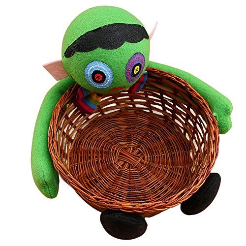 gkeit Tasche Rattan Korb Eimer Kürbis Wolf Plüsch Puppe Trimmen Halloween Urlaub Party Dekor (Gemmy Halloween Animiert)
