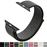 Iyou Sport Loop Armband Compatible with Apple Watch 38MM, Adjustable Closure Wrist Strap Lightweight Breathable Nylon Replacement Band Compatible with Apple Watch Series 4/3/2/1