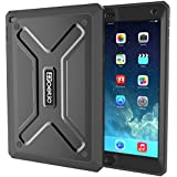 iPad Air 2 Case - Poetic Apple iPad Air 2 Case [Revolution Series] - Polycarbonate Shell & Outer TPU Skin Case for Apple iPad Air 2 (2014) Black (3-Year Manufacturer Warranty From Poetic)