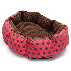 TOOGOO(R) Pet Dog Cat Bed Soft Nest Puppy Cushion Warm Kennel Mat Washable Winter Gift