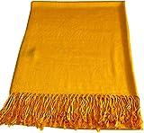 CJ Apparel Princeton Orange Kaufen Einfarbiges Design Stola Schal Umschlagtuch Schultertuch Tuch