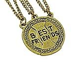 hanessa ragazze Gioiello da donna di amicizia catena 3catene Best Friends rotondo Ball bronzo regalo per la fidanzata/donne