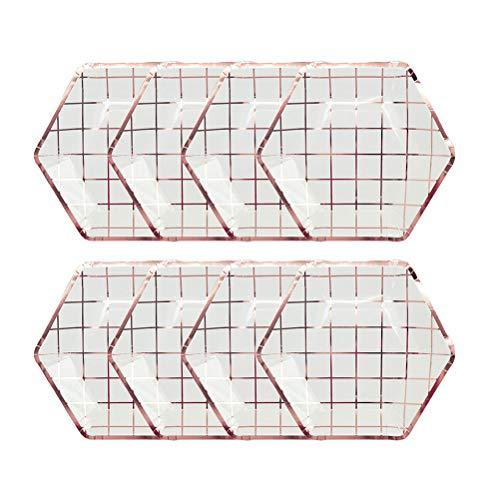 TENDYCOCO 8 stücke Einweg Pappteller Dekoratives Geschirr für Hochzeiten Baby Duschen Geburtstag Valentinstag