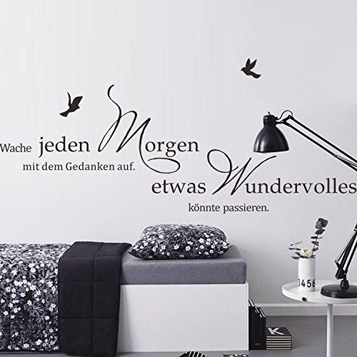 decalmile Wandtattoo Sprüche und Zitate Etwas Wundervolles Könnte Passieren Wandsticker Schwarz...