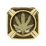#8: Newzenx Brass Ashtray Squire Amsterdam Leaf Ashtray 85mm