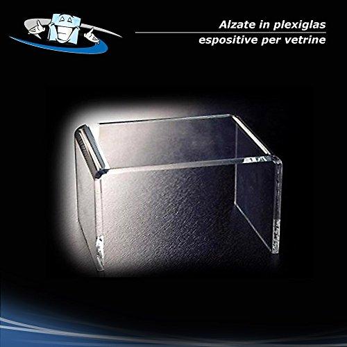 Circuito aut aut n. 10 alzate espositive per vetrine, ripiani in plexiglass f.to l15 x p10 x 5h cm (unico formato)