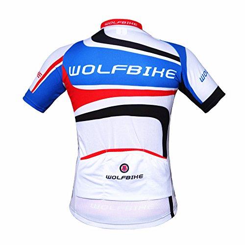 ParaCity Herren/Damen kurzärmeliger Anzug Jersey Radbekleidung Trikot für Reiten Radfahren Radsport MTB