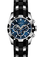 Invicta Speedway Black Polyurethane Band Steel case Quartz Watch 25833