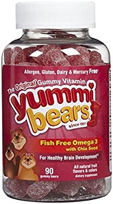 Hero Nutritionals Yummi Bears Children'S Omega 3 With Chia Seed 90 Gummies