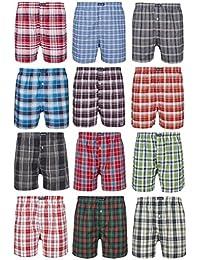 100% Baumwolle! Karierte Web Boxershort US Style Webboxer Boxershorts in modischen Farben & für Herren Jungen Unterhose aus gewebtem Material Kariert