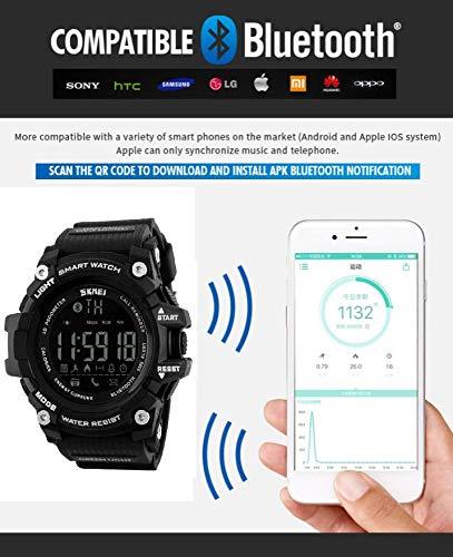 Skmei Reloj Hombre Inteligente para Android IOS Podómetro Bluetooth Pulsera Inteligente Resistente...