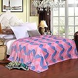Mjdynasty Flanell-Decke Spray-Decke Warme Blatt-Decke, A3, 150 * 200cm