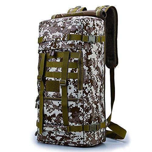 longda Wandern Rucksack, 45L groß wasserdicht Outdoor Sport Hiking Trekking Camping Reise Rucksack Pack, Business Military Rucksack mit Laptopfach, Desert Digital -